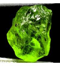 3.8Ct Необработанный хризолит (перидот) 11*8мм