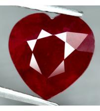 3.97Ct Натуральный рубин 9.7мм (сердце) Класса ААА+