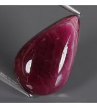 6.69Ct Натуральный рубин 16*10мм (груша кабошон) ВИДЕО