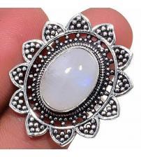 Серебряное кольцо с огромным лунным камнем 18р