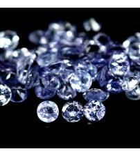 0.1Ct Натуральный камень танзанит 3мм (цена за 1шт)