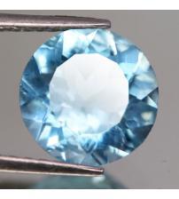3.38Ct Натуральный не гретый голубой топаз 10мм (круг)