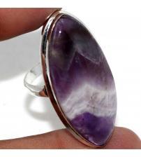 Серебряное кольцо с камнем аметист 19р