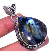 Серебряный кулон с синим лабрадоритом