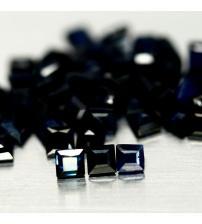 0.12Ct Натуральный синий сапфир 2.5мм квадрат (цена за 1шт)