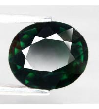 2.04CT Натуральный турмалин зеленый (верделит) 9.0*7.7мм (овал)