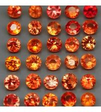0.08Ct Оранжевый Падпараджа сапфир 2.5мм (цена за 1шт)