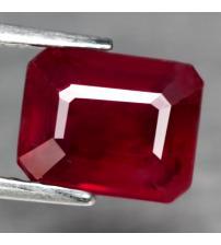 3.05Ct Натуральный рубин 8.6*6.9мм (октагон) Класса ААА+
