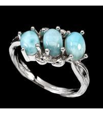 Кольцо из серебра с ларимаром 16р