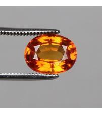 0.34Ct Оранжевый Падпараджа сапфир 5*4мм (овал) Видео