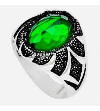 Мужской перстень с зеленым кварцем 20.5р