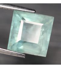 2.68Ct Натуральный необработанный аквамарин 7.9*7.9мм (квадрат)