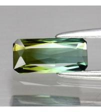 0.62CT Двухцветный зеленый турмалин 8*3.8мм (октагон) Видео