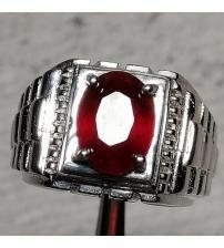 Серебряный перстень с натуральным рубином Класса АА++ 18.5р