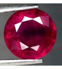 2.52Ct Натуральный насыщенный красный рубин 7.9мм (круг)