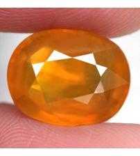 8.62Ct Премиум Класс Желто-оранжевый Мадагаскарский сапфир 13.1*10.3мм (овал) Сертификат