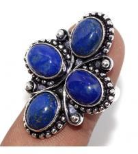 Серебряное кольцо с натуральным лазуритом 17р