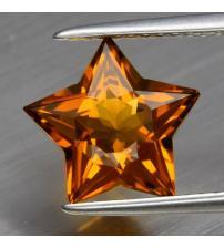 2.13Ct Натуральный цитрин 10*9.5мм звезда Видео