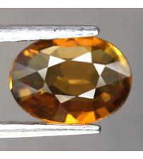 1.14CT Натуральный оранжевый турмалин (дравит) 8.4*6.1мм (овал)
