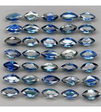 0.2Ct Негретый синий сапфир маркиз 5.5*2.5мм (цена за 1 шт)