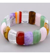 Чакральный браслет из семи камней для комплексной защиты 21см (стрейч)