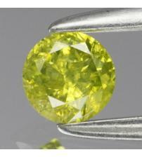 0.15Ct Натуральний жовто-зелений діамант 3.3мм з Сертифікатом (Fancy Yellow Green) Відео