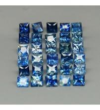 0.16Ct Натуральний синій сапфір квадрат 2.5мм (ціна за 1 шт)
