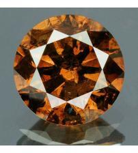 0.16Ct Натуральний коричневий діамант 3.5мм з Сертифікатом (Fancy Orange Brown) Відео