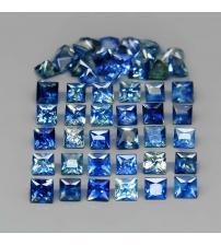 0.17Ct Негретый синий сапфир квадрат 2.6мм (цена за 1 шт)
