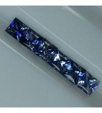 0.24Ct Натуральний синій сапфір квадрат 3.4мм (ціна за 1 шт)