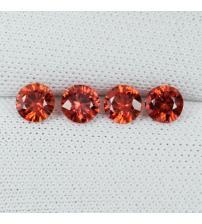 0.25Ct Натуральний червоний Падпараджа сапфір 3.4мм (ціна за 1шт)