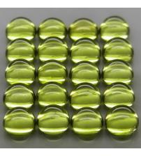 0.66Ct Натуральный хризолит (перидот) 5мм круг кабошон - цена за 1шт