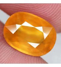 7.14Ct Желто-оранжевый Мадагаскарский сапфир 12.8*9.4мм (овал) Сертификат