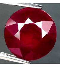 4.57Ct Натуральный рубин 9.7мм (круг) с Сертификатом