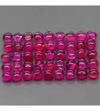 0.1Ct Натуральный рубин кабошон 2.4мм круг (цена за 1шт)