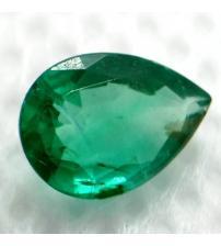 0.62Ct Чистий яскраво зелений смарагд 7.2*5.1мм груша (Преміум Класу АА++)