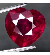 4.63Ct Натуральный рубин 10.2мм (сердце) Класса АА+