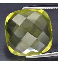 20.81Ct Натуральный лимонный кварц 17.8мм кушон чеканка (Видео)
