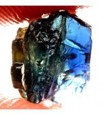 2.9Ct Натуральний синьо-зелено-жовтий сапфір без огранки 8*5мм