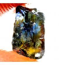 3.3Ct Натуральний синьо-зелено-жовтий сапфір без огранки 8*6мм