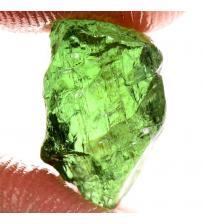 6.4Ct Натуральний необроблений зелений апатит без огранування 11*7мм