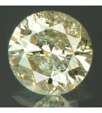 0.15Ct Натуральный платиново-белый бриллиант 3.3мм с Сертификатом IGR