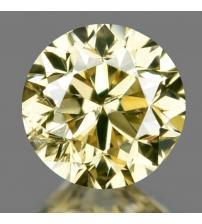 0.19Ct Натуральный серо-желтый бриллиант 3.6мм с Сертификатом IGR
