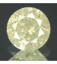 0.46Ct Натуральный платиново-желтый бриллиант 4.7мм с Сертификатом IGR