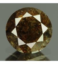 0.97Ct Натуральный серо-коричневый бриллиант 6.3мм с Сертификатом IGR (Dark Grey)