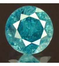 0.21Ct Натуральный голубой бриллиант 3.5мм с Сертификатом IGR (Vivid Royal Blue)