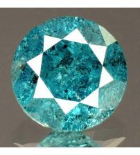 0.32Ct Натуральный голубой бриллиант 4.1мм с Сертификатом IGR (Vivid Royal Blue)