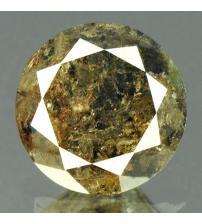 0.68Ct Натуральный коричневый бриллиант 5.3мм с Сертификатом IGR (Brownish Black)