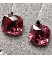 0.65Ct Натуральная Rasзberry Pink ШПИНЕЛЬ Махенге пара 4мм (видео)