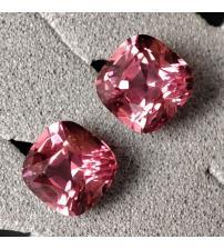 0.7Ct Натуральная Platinum Pink ШПИНЕЛЬ Махенге пара 4мм (видео)